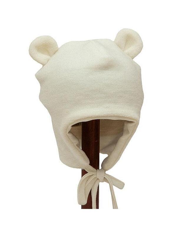 Lorita merino vilnos vaikiška kepurė, smėlio spalvos