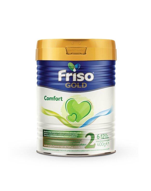 FRISO GOLD COMFORT 2 tolesnio maitinimo specialios paskirties pieno mišinys kūdikiams nuo 6 mėnesių, 400 g